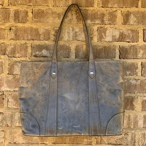 Frye Gray distressed leather tote purse NWT